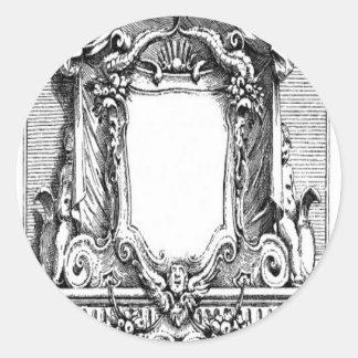 Diseño del cartouche del vintage pegatina redonda