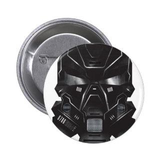 diseño del casco del arte del concepto del friki chapa redonda 5 cm