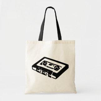 Diseño del casete de música bolsa tela barata
