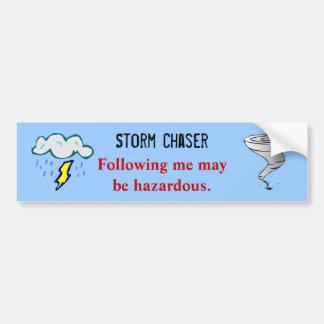 Diseño del cazador de la tormenta del tornado del  pegatina de parachoque