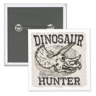 Diseño del cazador del dinosaurio por los estudios pin cuadrado