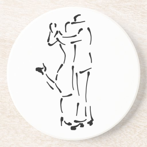 Diseño del cepillo de la tinta de los bailarines d posavasos diseño