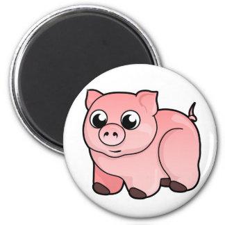 Diseño del cerdo imán redondo 5 cm