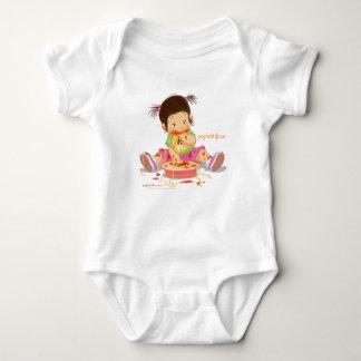 Diseño del chica de Psghettiface - bebé Camisas