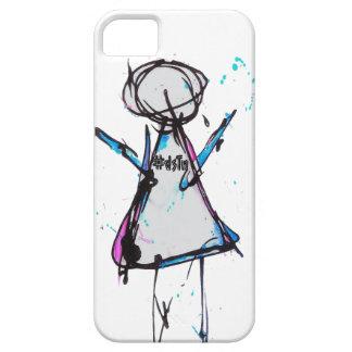 diseño del chica del caso del iphone 4 iPhone 5 Case-Mate cárcasa