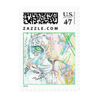 Diseño del chicle del tigre sellos postales