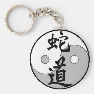 Diseño del chino de Yin Yang Llavero Redondo Tipo Pin