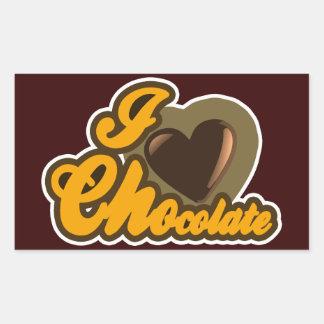Diseño del chocolate pegatina rectangular