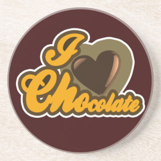 Diseño del chocolate posavasos para bebidas