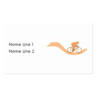 Diseño del ciclista en naranja tarjetas de visita