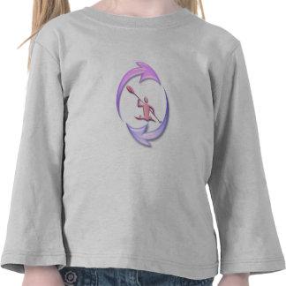 Diseño del ciclo del kajak camiseta