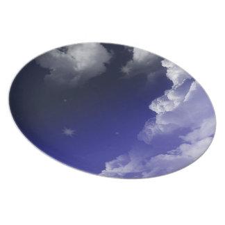 diseño del cielo platos para fiestas