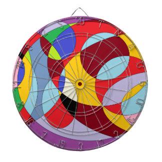 Diseño del círculo con diversos colores tabla dardos