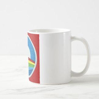 Diseño del círculo de Obama del arco iris Tazas De Café