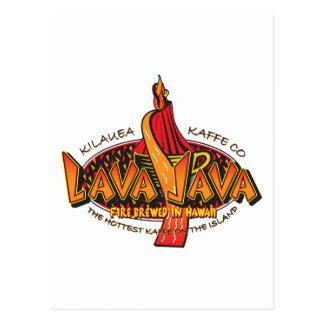 Diseño del círculo del Lava-JAVA-Café Tarjetas Postales