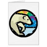 diseño del círculo del oso polar felicitacion