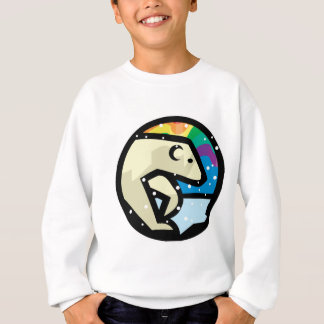 diseño del círculo del oso polar sudadera