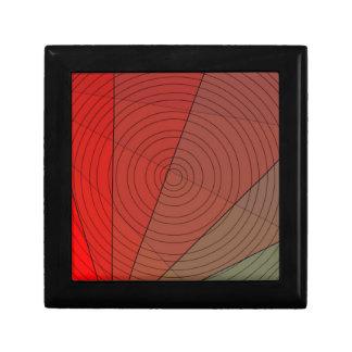 Diseño del círculo del triángulo de los rojos cajas de joyas
