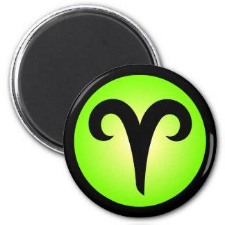 Diseño del círculo del verde de la muestra del hor imán redondo 5 cm