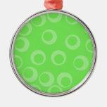 Diseño del círculo en verde. Modelo retro Adorno De Reyes