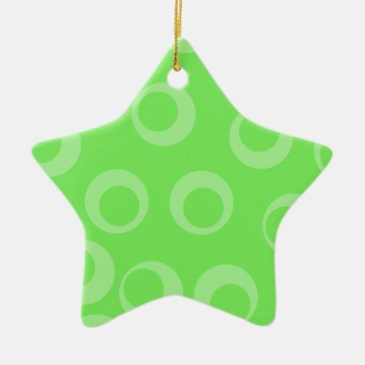 Diseño del círculo en verde. Modelo retro. Persona Adornos De Navidad