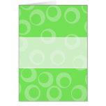 Diseño del círculo en verde. Modelo retro Tarjetas