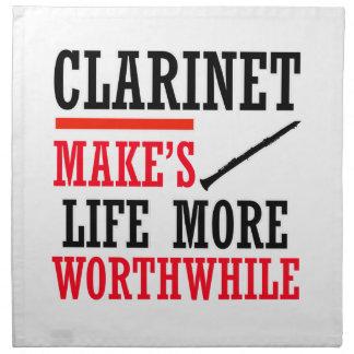 diseño del clarinet servilleta imprimida