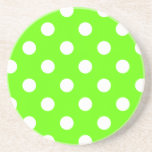 Diseño del clavo de los lunares de la verde lima posavasos diseño