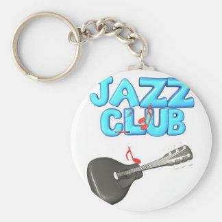 diseño del club de jazz llavero redondo tipo pin