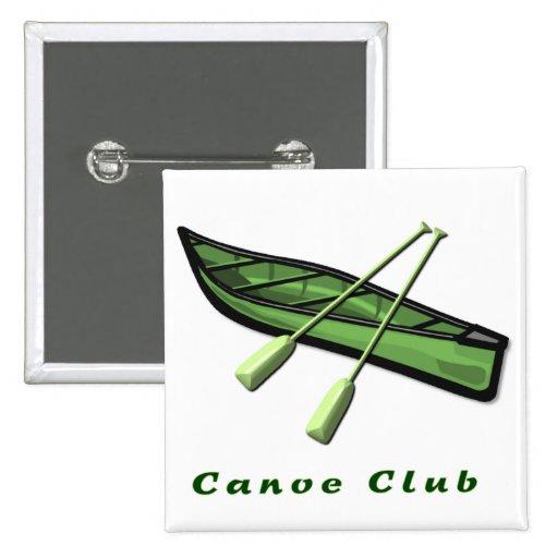 Diseño del club de la canoa pins