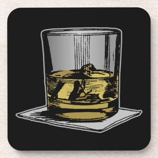 Diseño del cóctel y de la servilleta posavasos de bebida