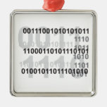 diseño del código binario adornos de navidad