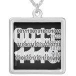 diseño del código binario colgante