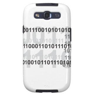 diseño del código binario samsung galaxy s3 protector