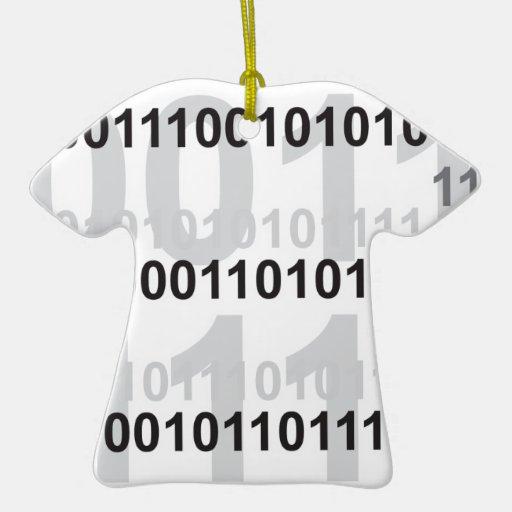 diseño del código binario ornamento de navidad