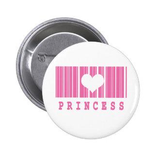 diseño del código de barras de la princesa pin
