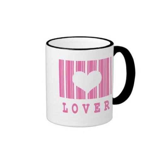 diseño del código de barras del amante tazas de café