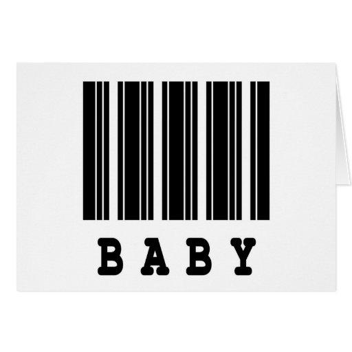 diseño del código de barras del bebé tarjeta de felicitación