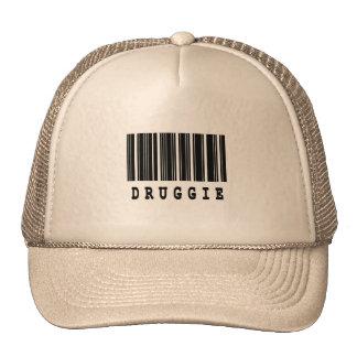 diseño del código de barras del druggie gorros bordados