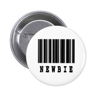 diseño del código de barras del newbie pins