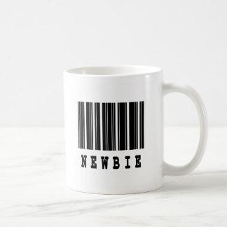 diseño del código de barras del newbie tazas