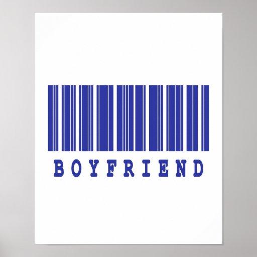 diseño del código de barras del novio póster