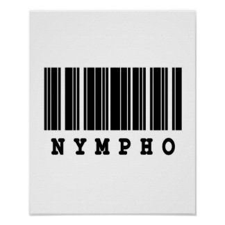 diseño del código de barras del nympho póster