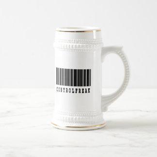 diseño del código de barras del obseso del control jarra de cerveza