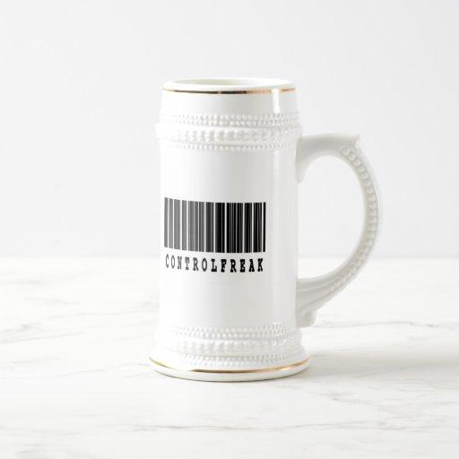 diseño del código de barras del obseso del control taza de café