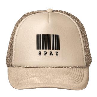 diseño del código de barras del spaz gorras de camionero
