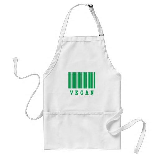 diseño del código de barras del vegano delantal