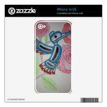 Diseño del colibrí skins para iPhone 4