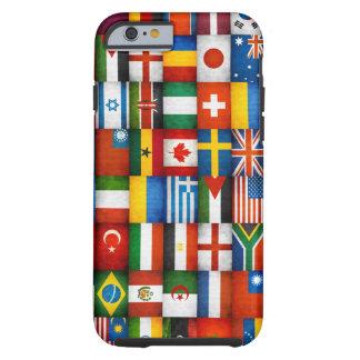 Diseño del collage de las banderas del mundo del