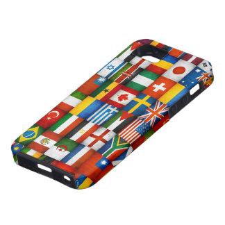 Diseño del collage de las banderas del mundo del funda para iPhone SE/5/5s